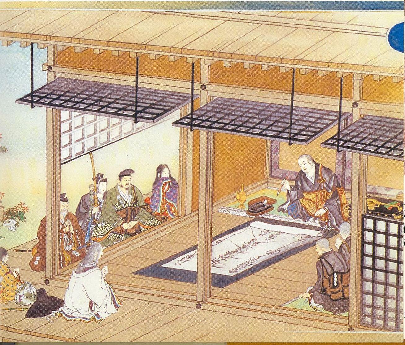 14. Nichiren inscribing,jpg